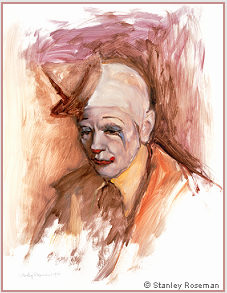 Painting by Stanley Roseman of Frosty Little, Director of Clowns, Ringling Bros. and Barnum & Bailey Circus, 1977, Musee des Beaux-Arts, Bordeaux. © Stanley Roseman