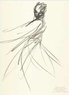 "Drawing by Stanley Roseman of Paris Opera star dancer Michael Denard, ""The Moor's Pavane,"" 1991, Private collection, Switzerland."