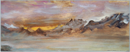 "Landscape by Stanley Roseman, ""December Morning - View from Chardonne Overlooking Lake Geneva,"" 1987, Musee des Beaux-Arts, Rouen."