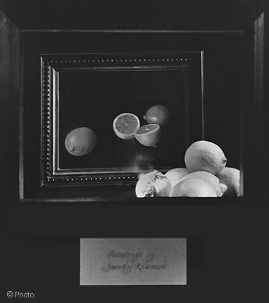 "Cartier, Fifth Avenue, window display with the still life by Stanley Roseman, ""Lemons and Lime."" Photograph copyright."