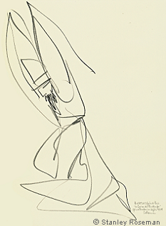 "Drawing by Stanley Roseman ""Male Dancer,"" 1994, ""The Rite of Spring,"" Private collection, France. © Stanley Roseman"