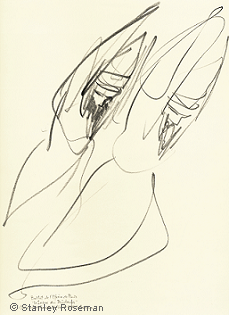 "Drawing by Stanley Roseman ""Two Male Dancers,"" 1994, ""The Rite of Spring,"" Private collection, Geneva. © Stanley Roseman"