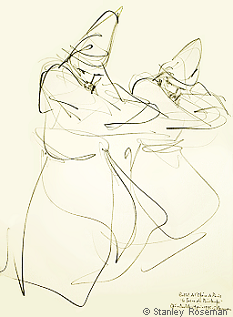 "Drawing by Stanley Roseman ""Two Male Dancers,"" 1995, ""The Rite of Spring,"" Private collection, Canton Bern, Switzerland. © Stanley Roseman"